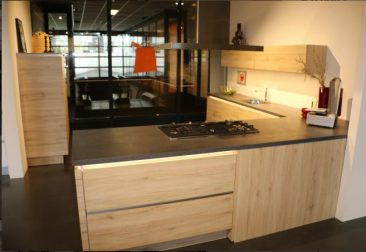 Design hoek showroomkeuken